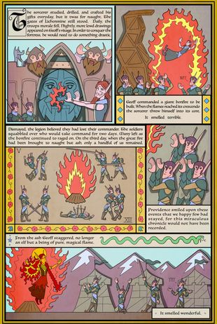Battlements | The Saga of Face Melt Mountain – Part 2 #108 | Spinwhiz Comics
