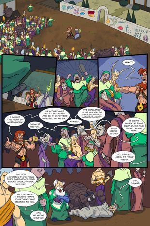 Battlements | The Noble and Ancient Rite of Misthaufen #145 | Spinwhiz Comics