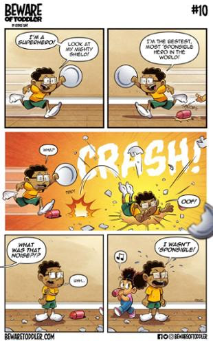 GeoGant | Toddler V. Big Brother #9 | Spinwhiz Comics
