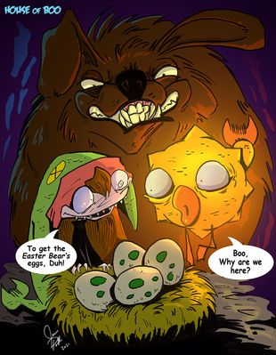 House Of Boo | Easter Bear Eggs #67 | Spinwhiz Comics