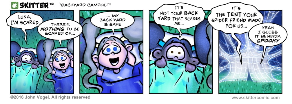 Skitter Comic | Backyard Campout #133 | Spinwhiz Comics