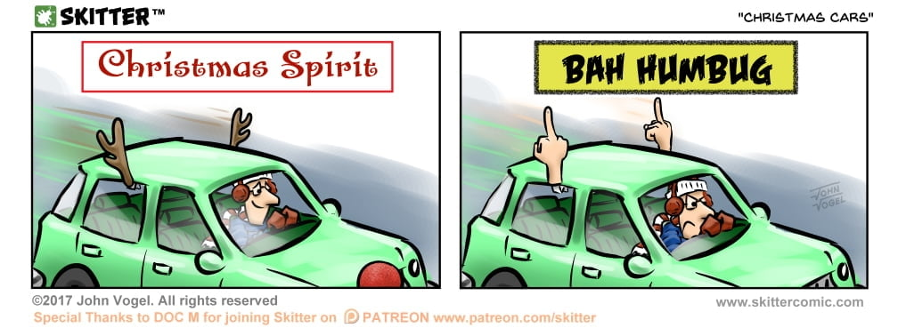 Skitter Comic | Christmas Cars #265 | Spinwhiz Comics