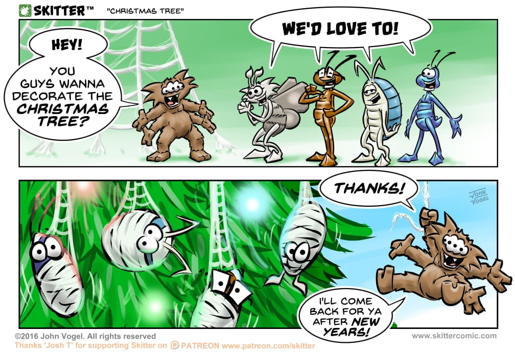 Skitter Comic | Christmas Tree #166 | Spinwhiz Comics