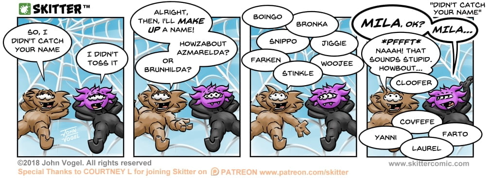Skitter Comic | Didn't Catch Your Name #320 | Spinwhiz Comics