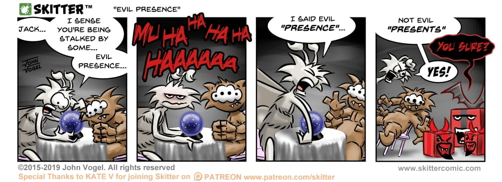Skitter Comic | Evil Presence #401 | Spinwhiz Comics