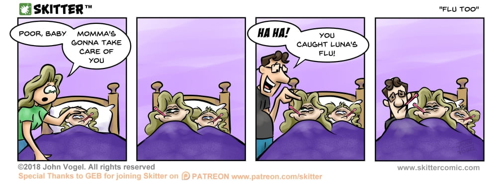 Skitter Comic | Flu Too #279 | Spinwhiz Comics