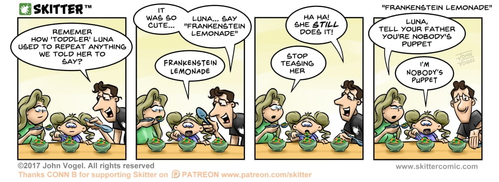 Skitter Comic | Frankenstein Lemonade #229 | Spinwhiz Comics