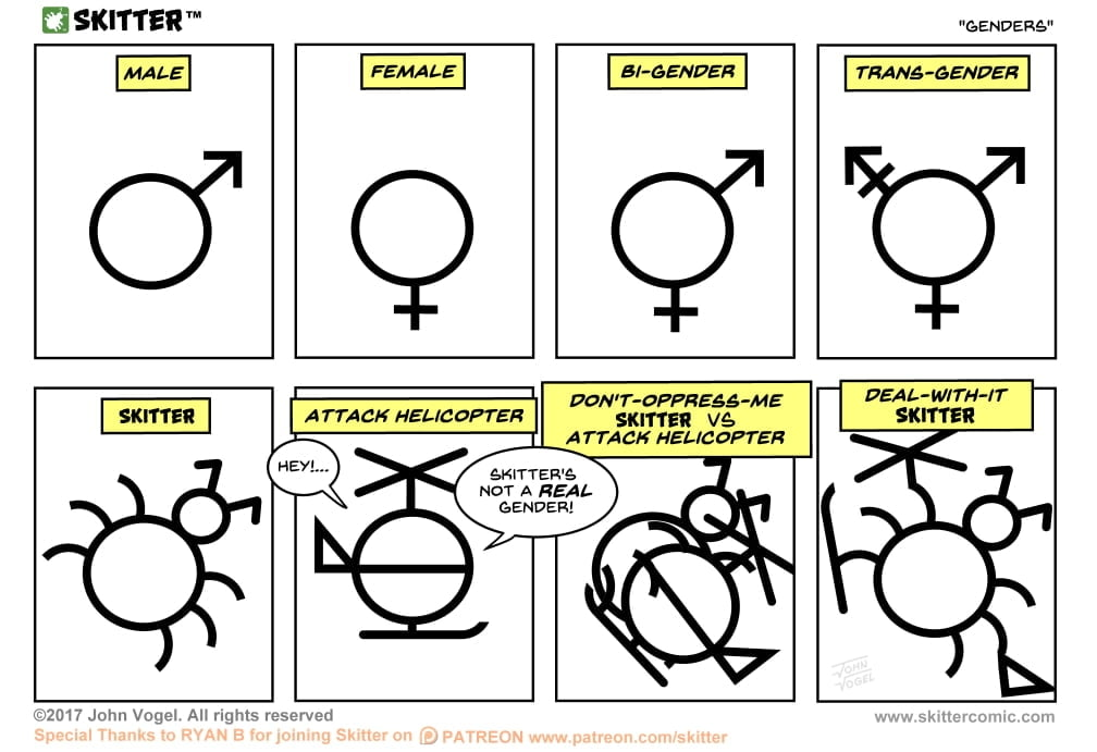 Skitter Comic | Genders #235 | Spinwhiz Comics