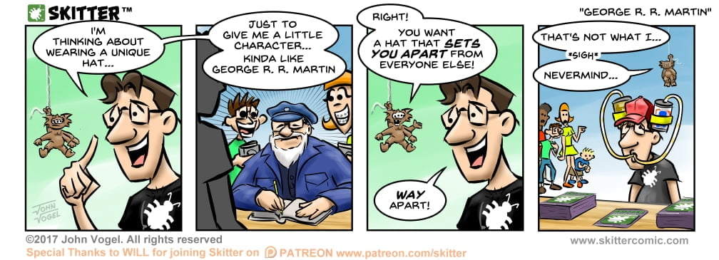 Skitter Comic | George R R Martin #241 | Spinwhiz Comics