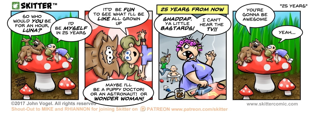 Skitter Comic | Grown Up Luna #223 | Spinwhiz Comics