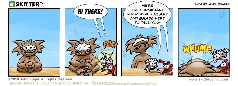 Skitter Comic | Heart And Brain #275 | Spinwhiz Comics