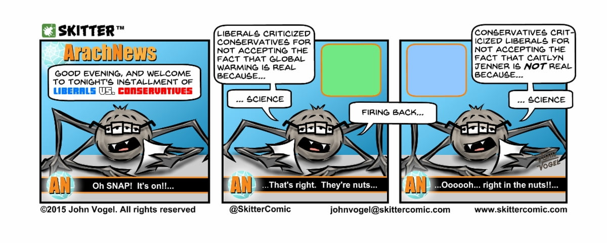 Skitter Comic | Liberals and Conservatives #32 | Spinwhiz Comics