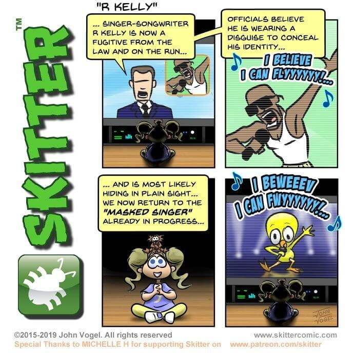 Skitter Comic | R Kelly #398 | Spinwhiz Comics