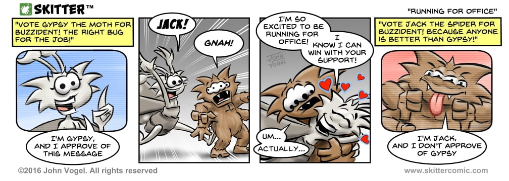 Skitter Comic | Running For Office #108 | Spinwhiz Comics