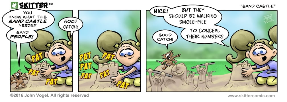 Skitter Comic | Sand Castle #127 | Spinwhiz Comics