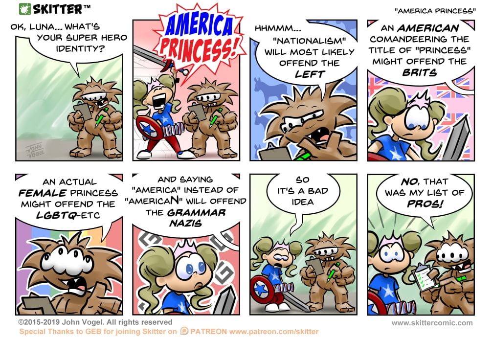 Skitter Comic | America Princess #453 | Spinwhiz Comics