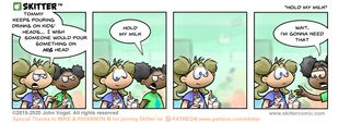 Skitter Comic | Hold My Milk #535 | Spinwhiz Comics