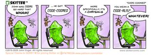 Skitter Comic | Code-Cooned #551 | Spinwhiz Comics