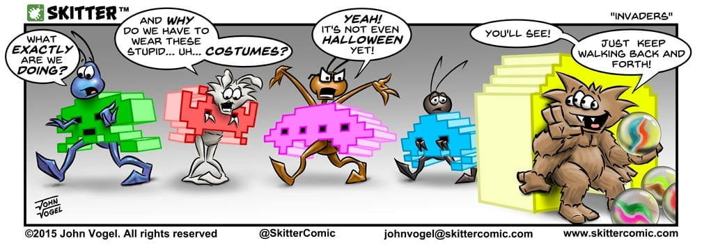 Skitter Comic | Space Invaders #52 | Spinwhiz Comics