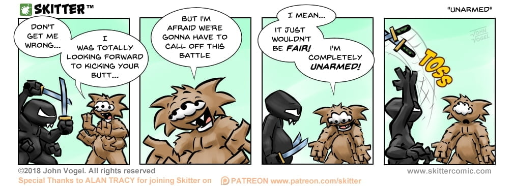 Skitter Comic | Unarmed #308 | Spinwhiz Comics