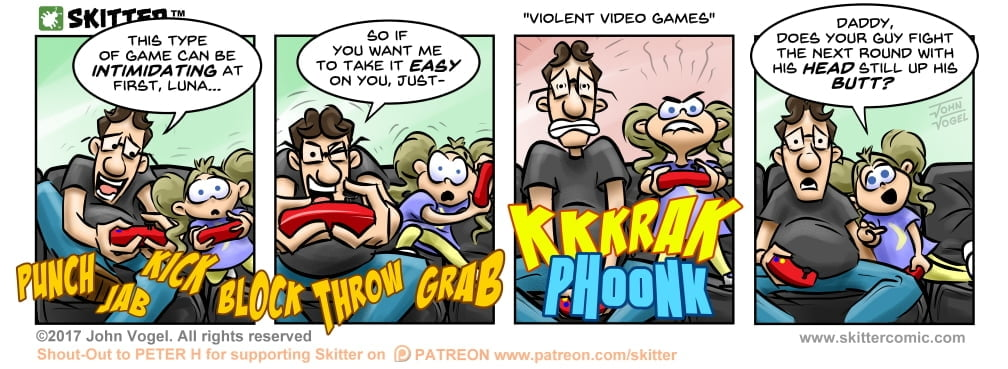 Skitter Comic | Violent Video Games #219 | Spinwhiz Comics