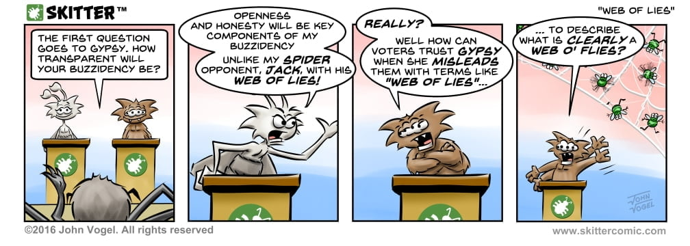 Skitter Comic | Web Of Lies #115 | Spinwhiz Comics