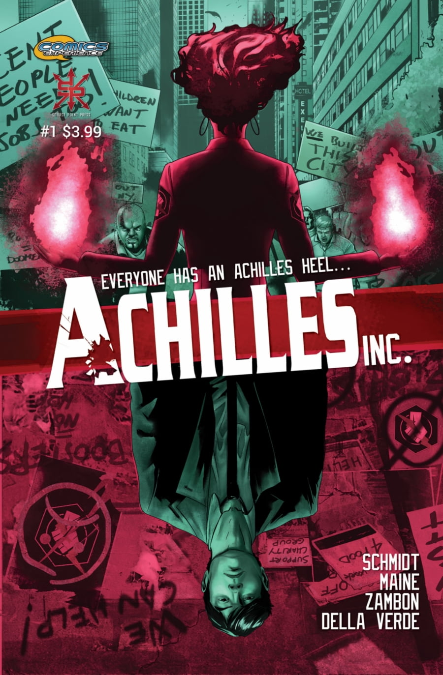 Source Point Press | Achilles, Inc #1 page 1 | Spinwhiz Comics